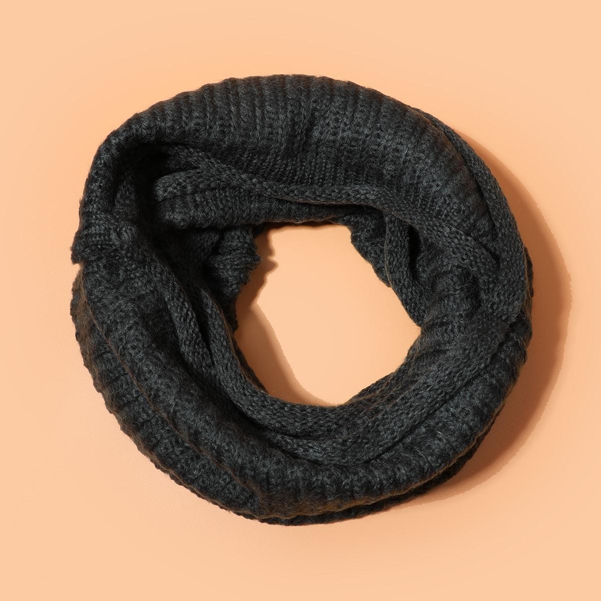shein Mannen stevige ring sjaal