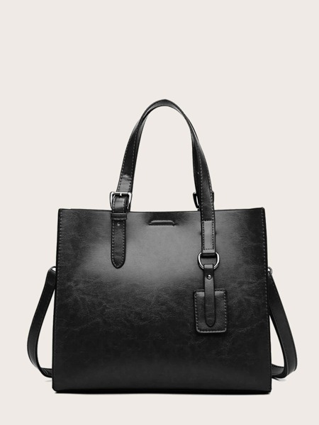 Minimalist Top Handle Tote Bag