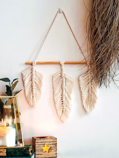 1pc Woven Leaf Wall Hanging