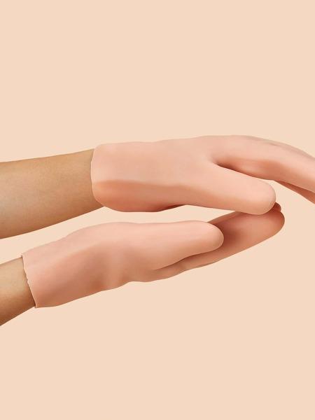 1pair Solid Moisturizing Gloves