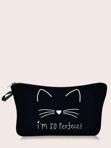 Cat Pattern Makeup Bag
