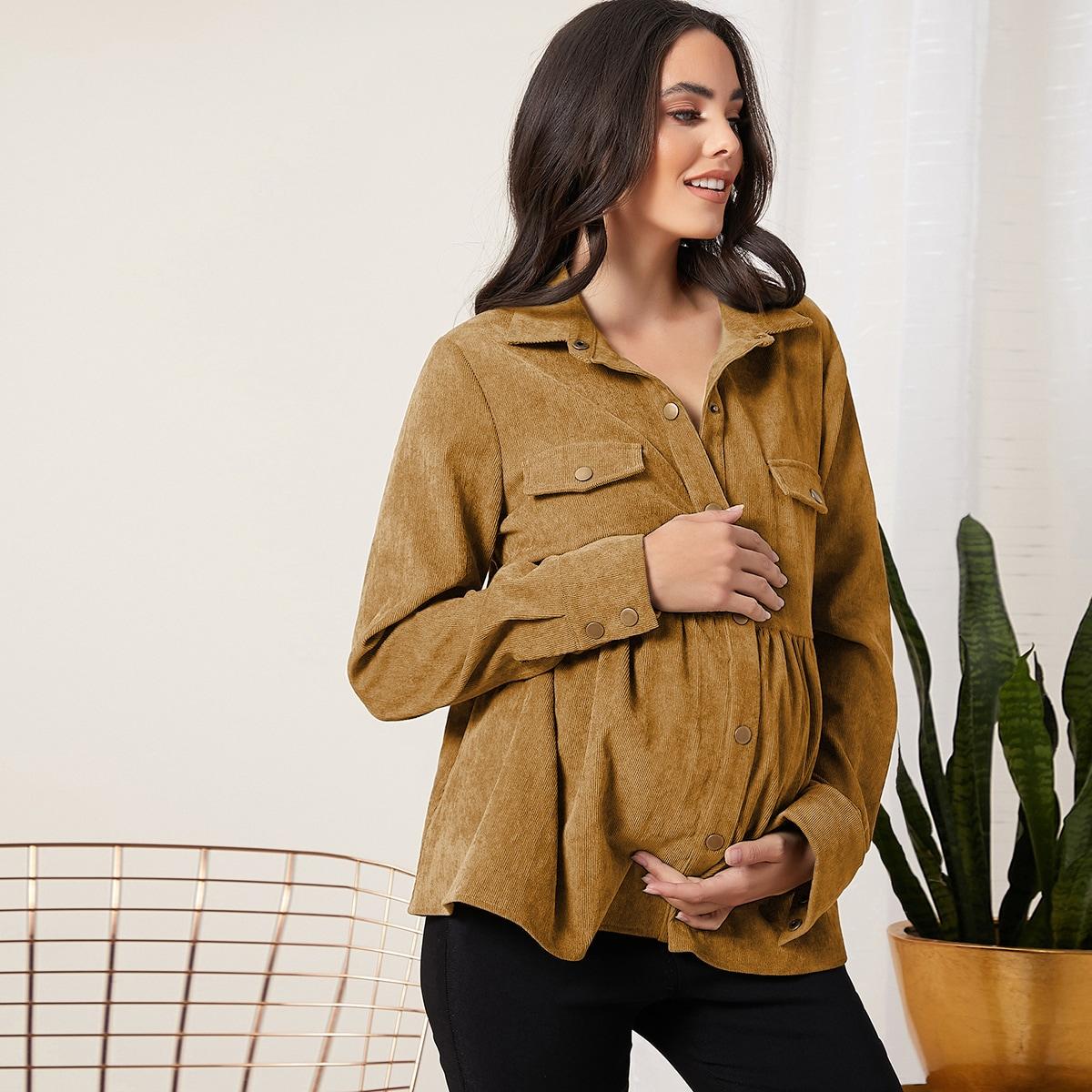Вельветовая блузка для беременных
