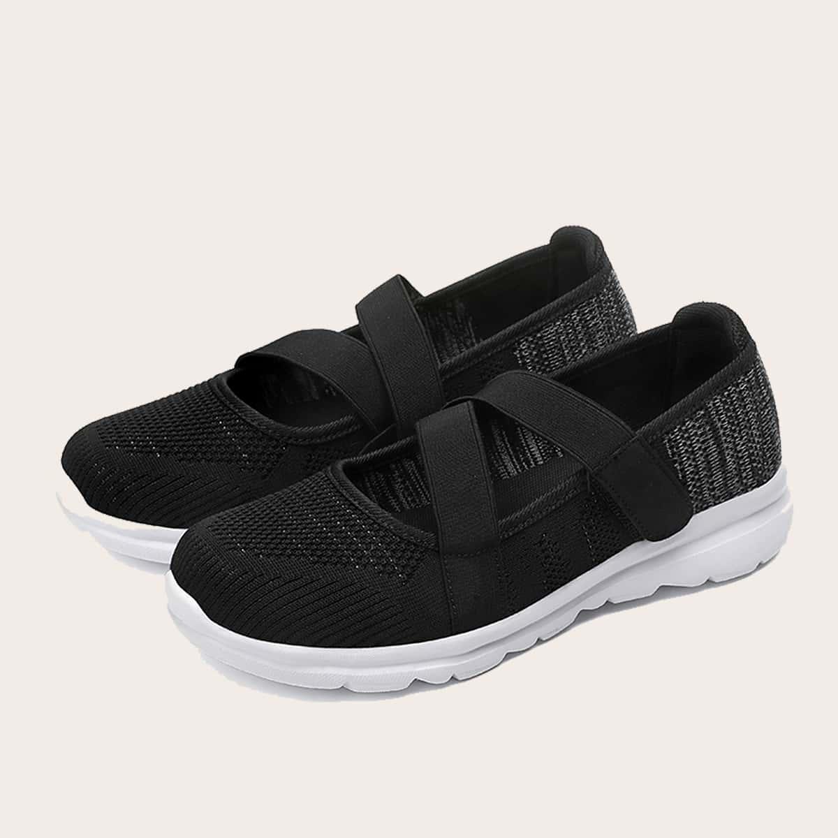 Zapatillas deportivas con banda elástica arriba baja sin cordones