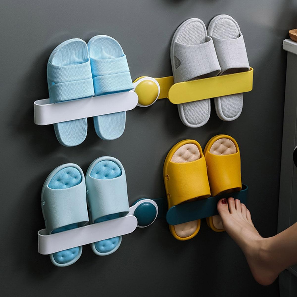 1шт Настенная стойка для обуви случайного цвета