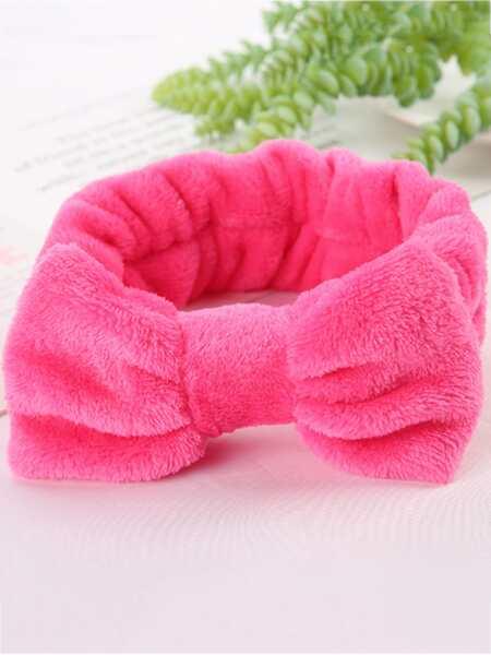 1pc Bow-knot Decor Bath Headband