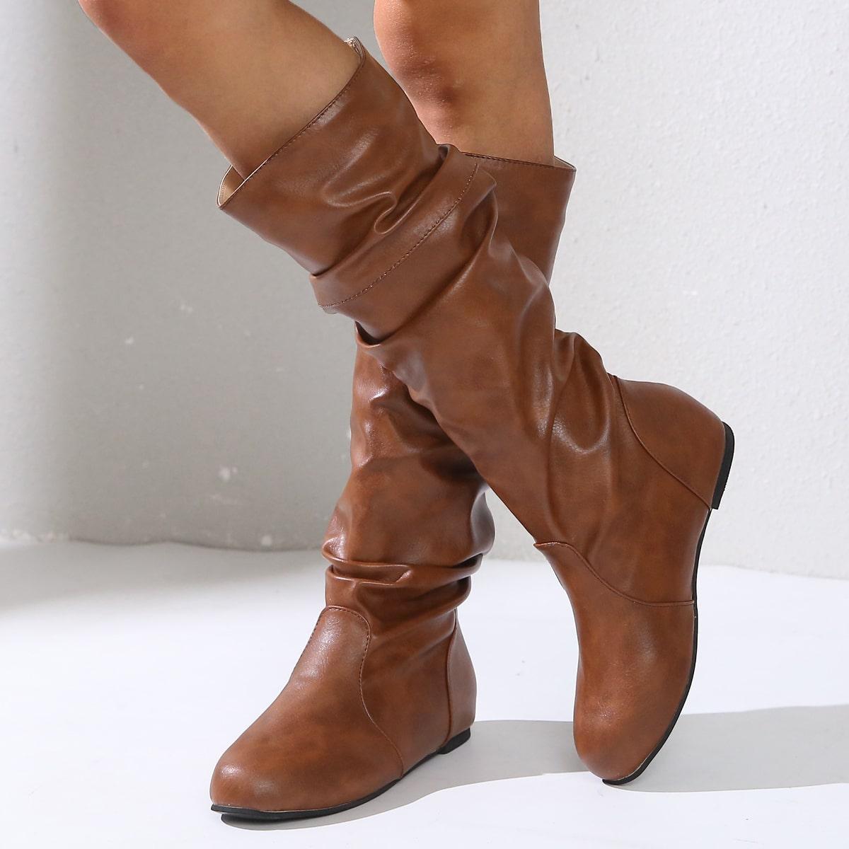 SHEIN / Minimalistische Stiefel mit Rüschen