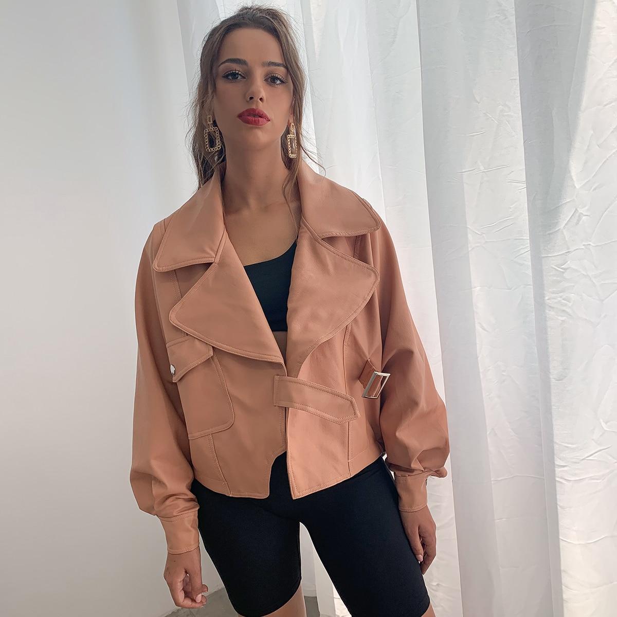 D&M Куртка из искусственной кожи с карманом