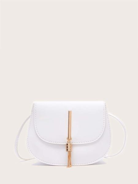 Tassel Decor Saddle Bag
