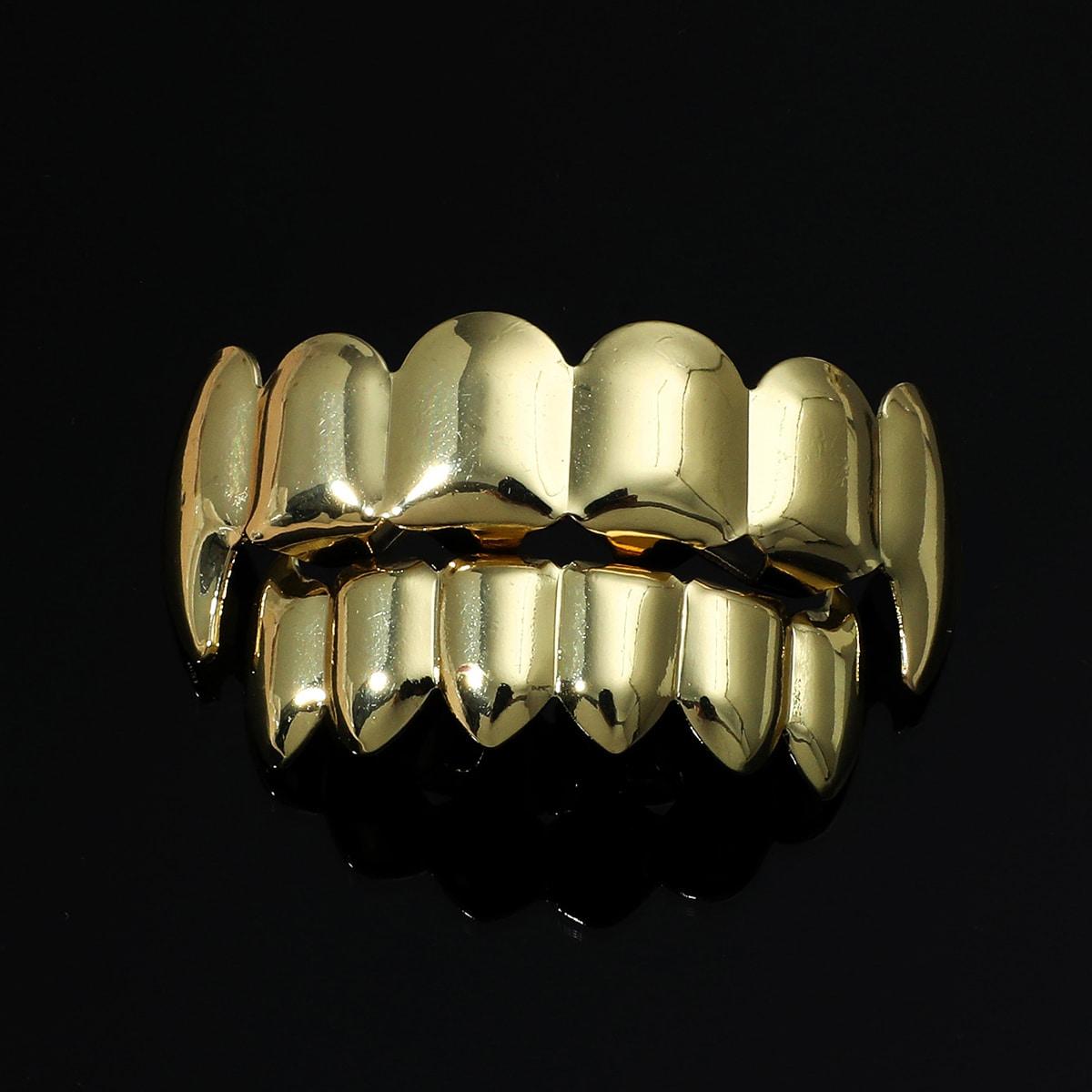 Men Solid Metal Teeth Braces