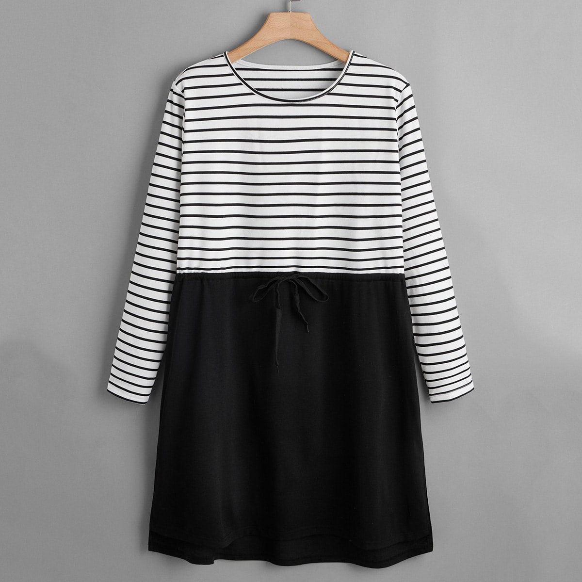 SHEIN / Ziehbändchen Gestreift Lässig Kleider Große Größen