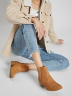 Almond Toe Low Stacked Heel Chelsea Ankle Booties