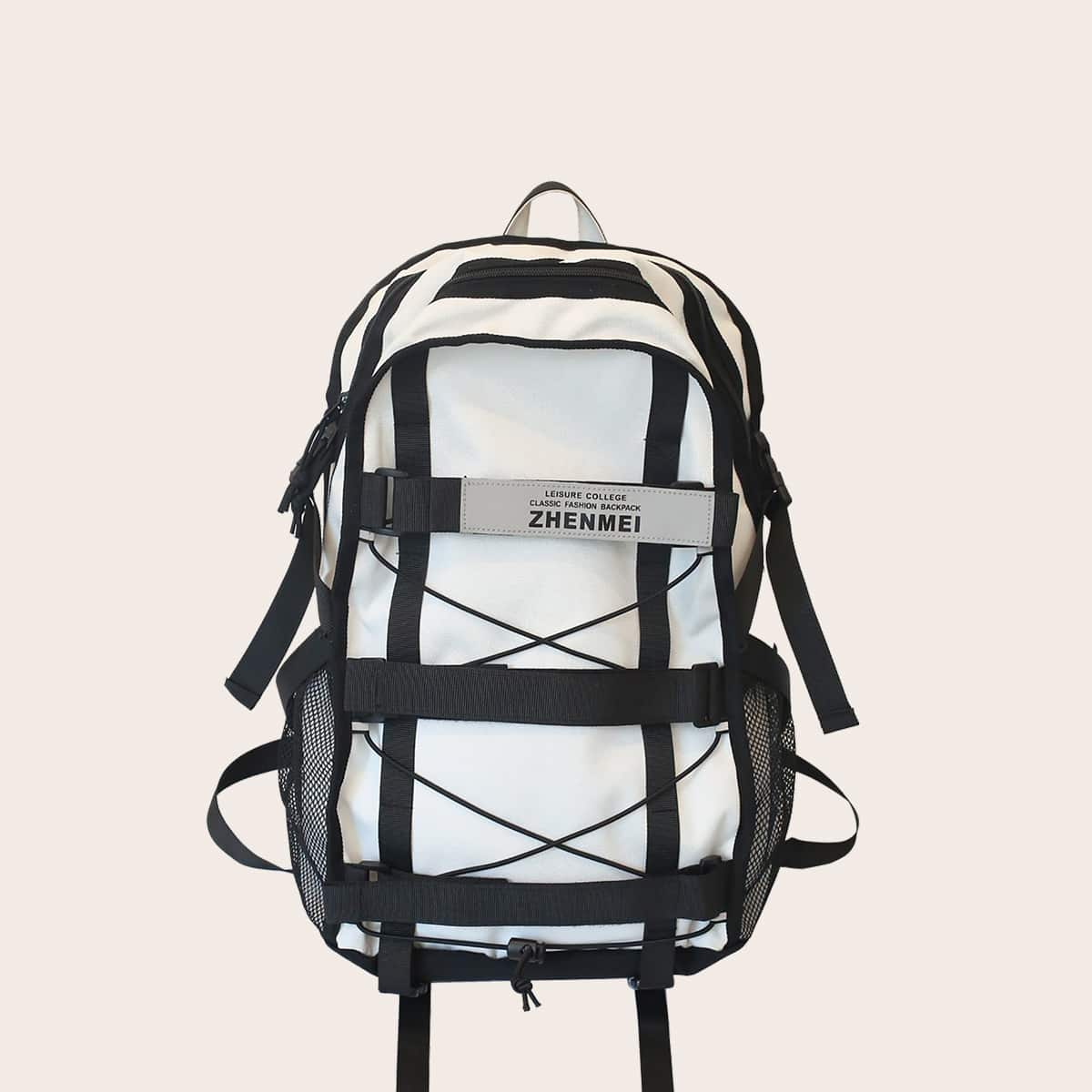 SHEIN / Men Large Capacity Letter Graphic Backpack