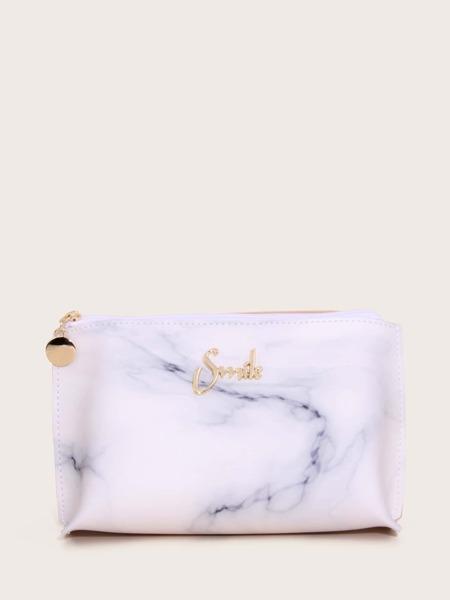 Marble Print Makeup Bag
