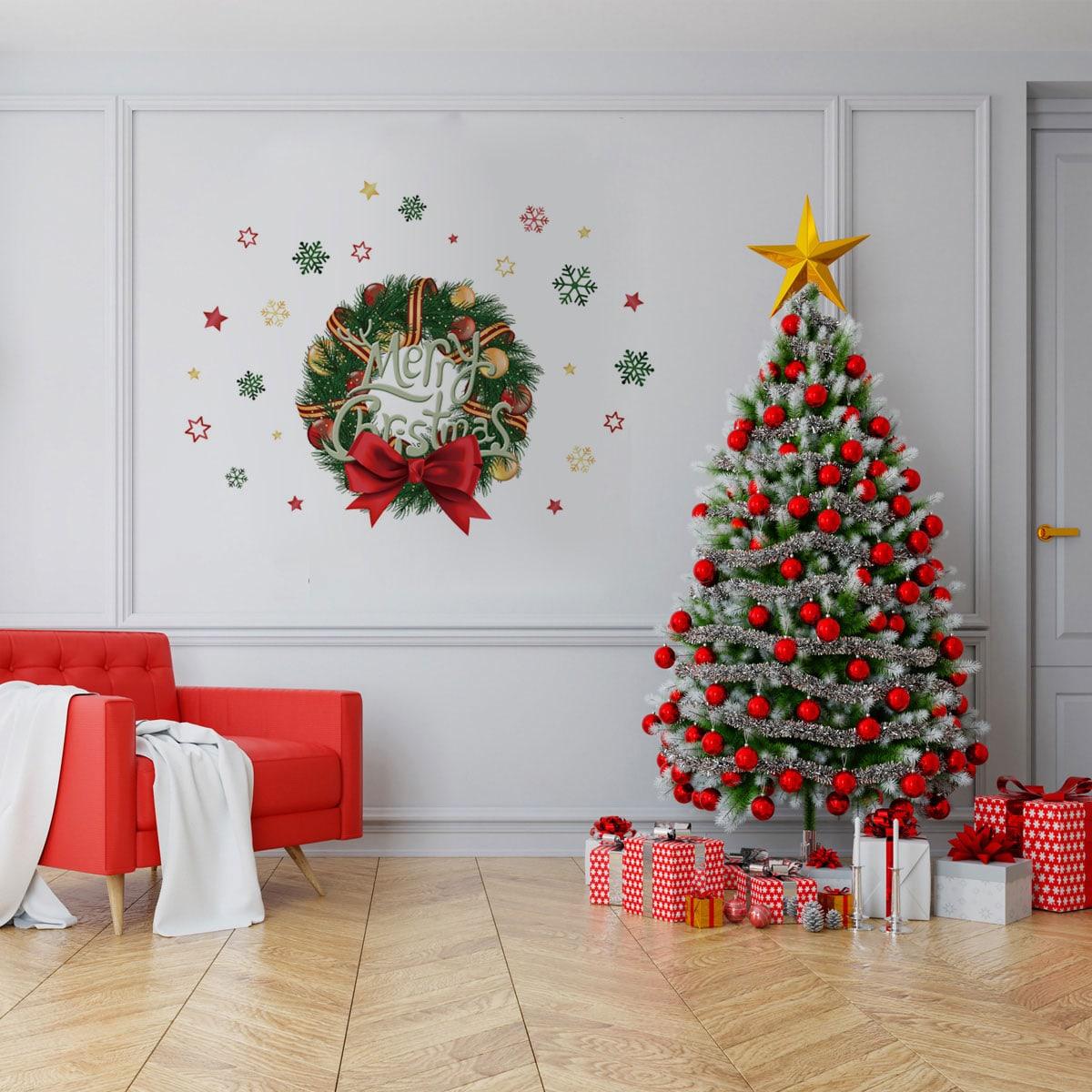 SHEIN / Wandaufkleber mit Weihnachten Kranz Muster
