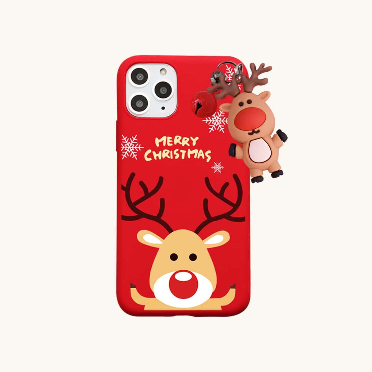 SHEIN / Weihnachten Handyetui mit Elch & Glocken Dekor