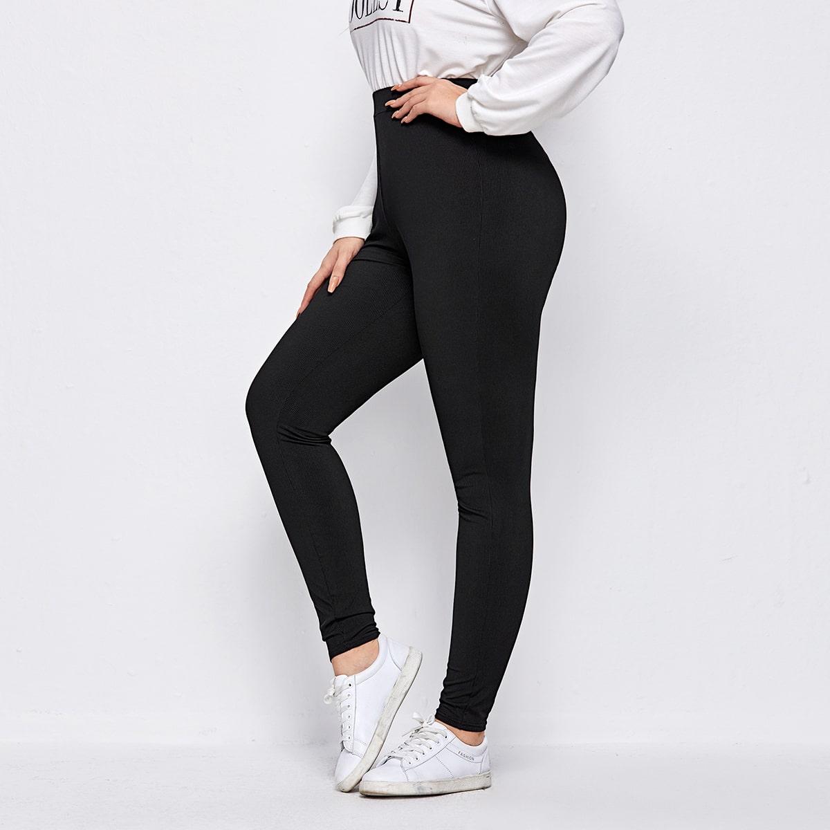 SHEIN / Rippenstrick Leggings mit hoher Taille