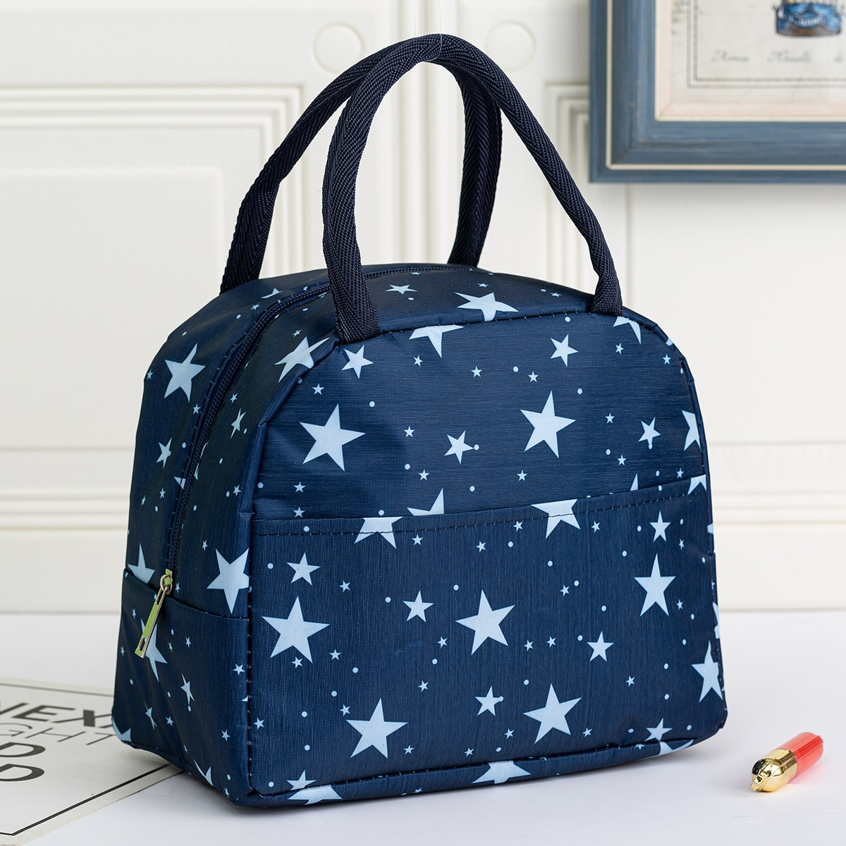 SHEIN / Star Print Insulated Lunch Bag