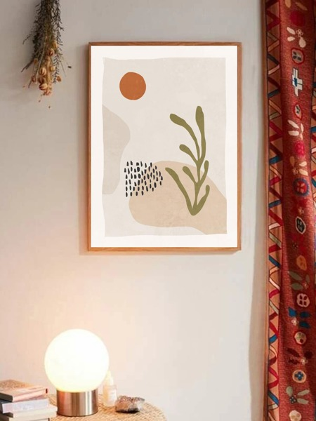Abstract Pattern Wall Painting Without Frame