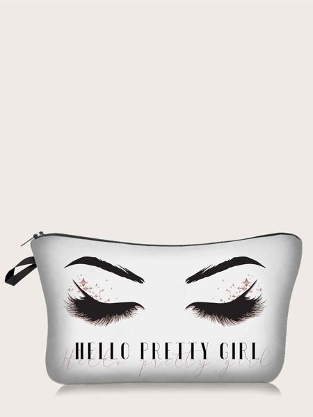 Eyelash Pattern Makeup Bag