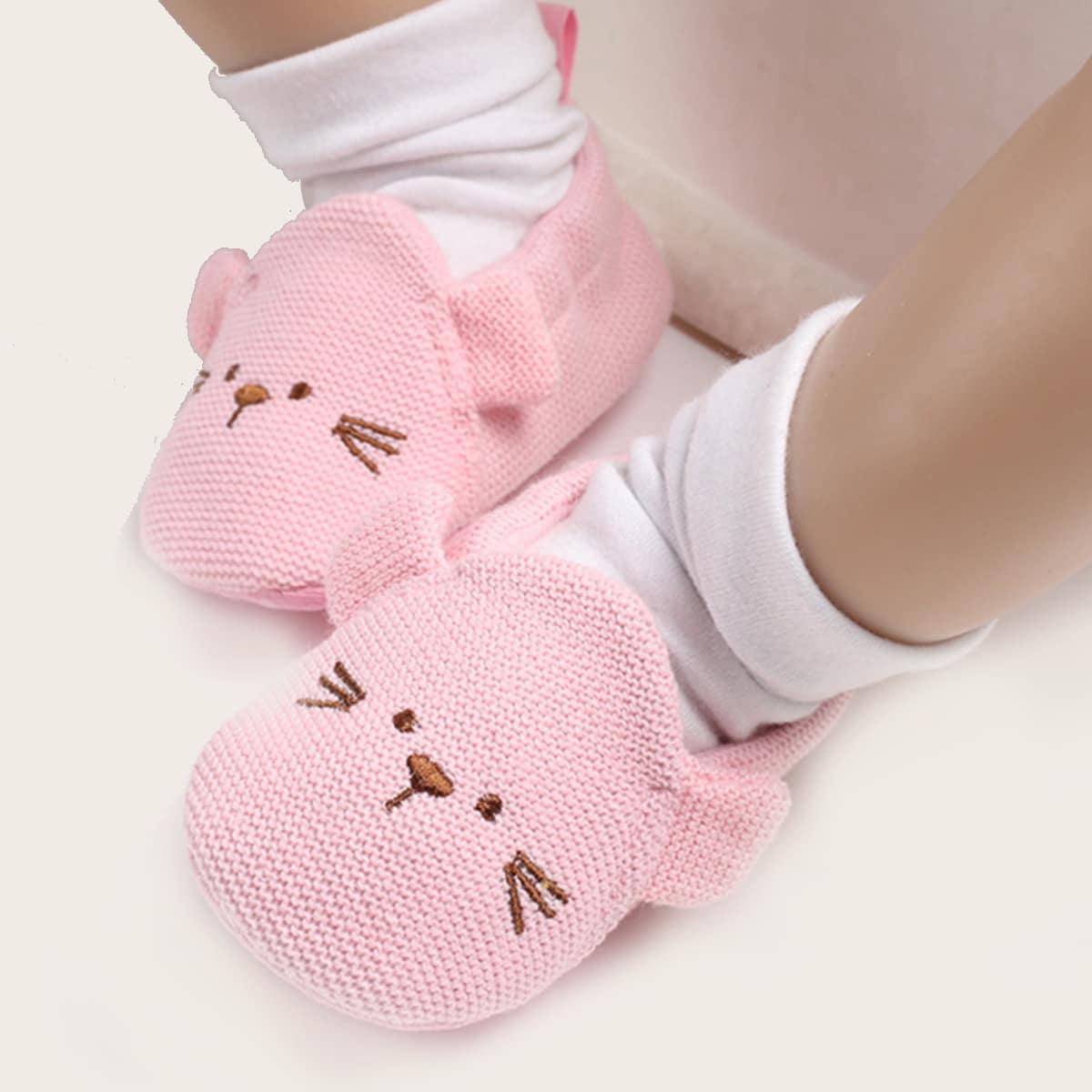 shein Spotprent Baby platte schoentjes Borduurwerk