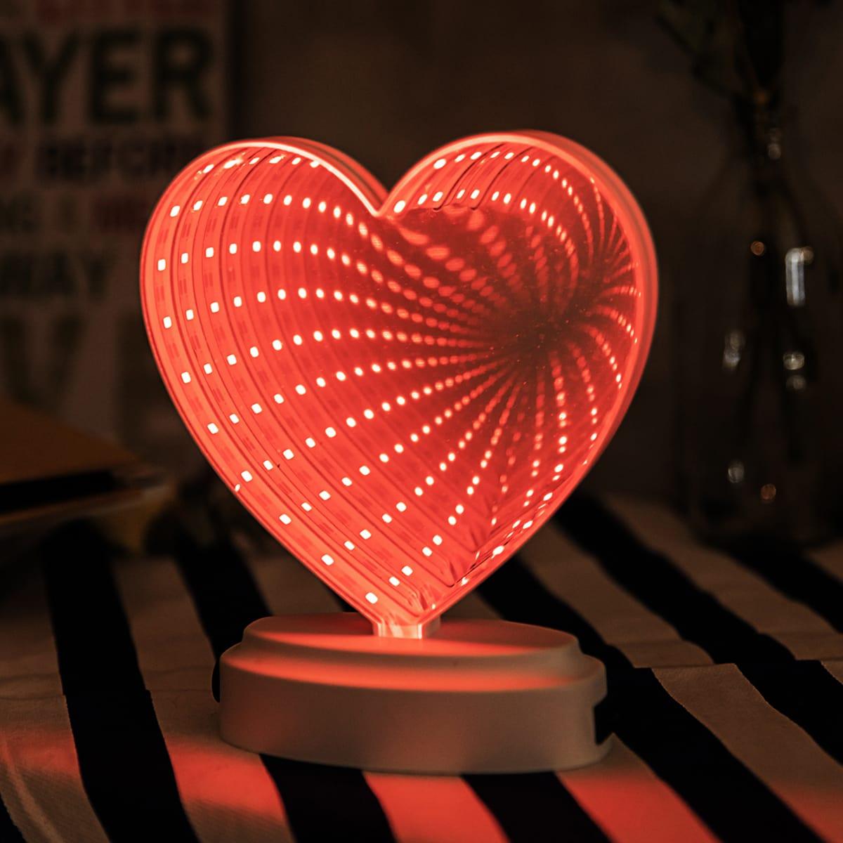 1шт ночник в форме сердечка