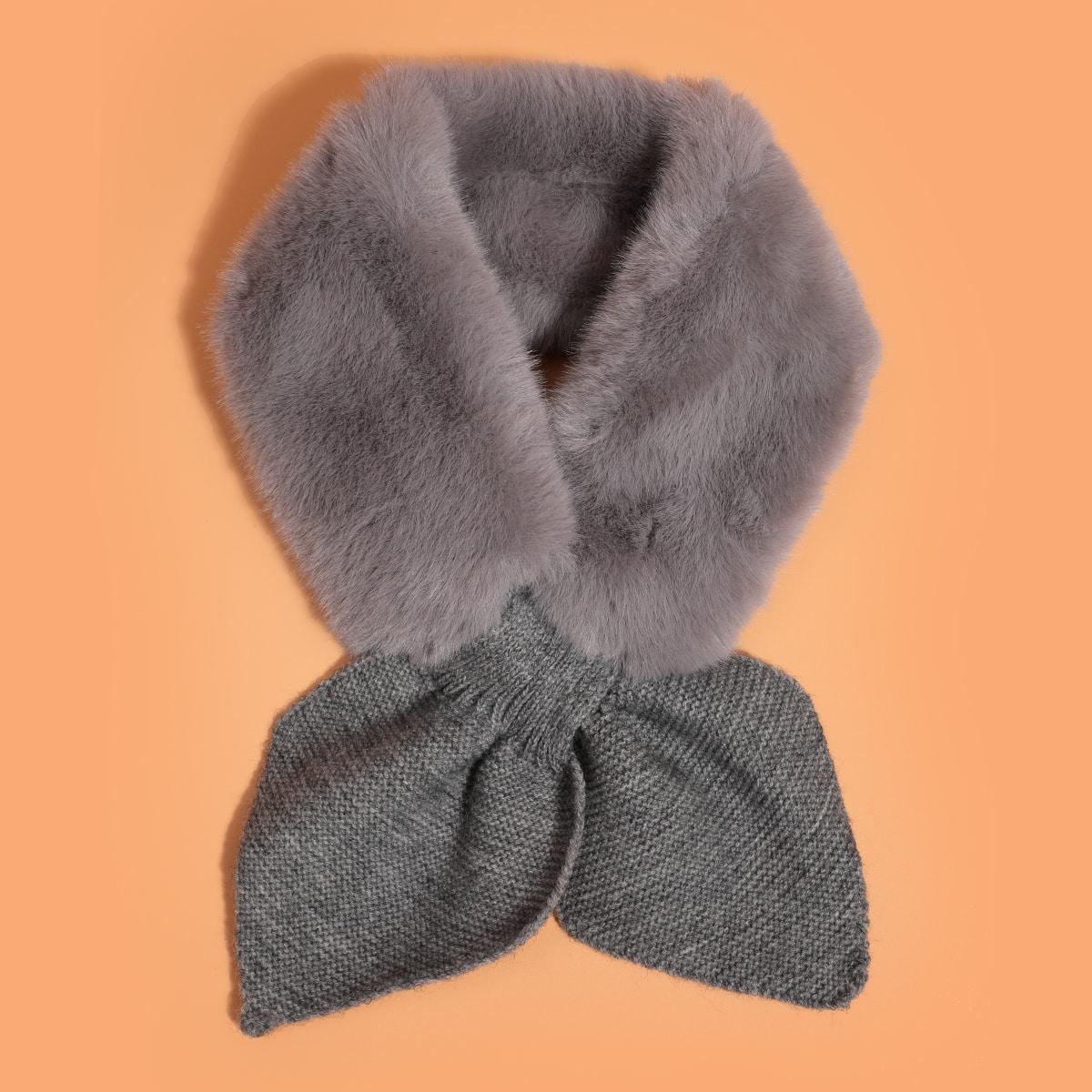 shein Pluizige ring sjaal