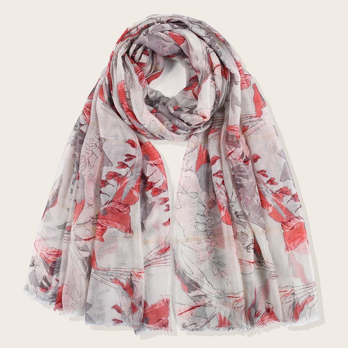 shein Bladpatroon sjaal
