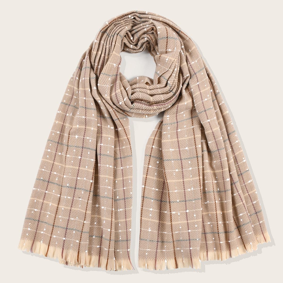 shein Geruite patroon sjaal