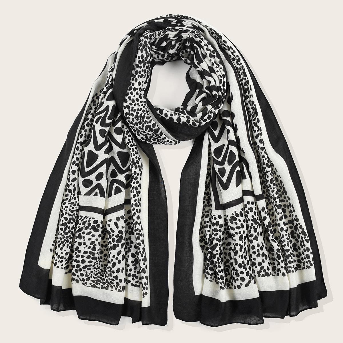 shein Polka Dot Pattern Sjaal