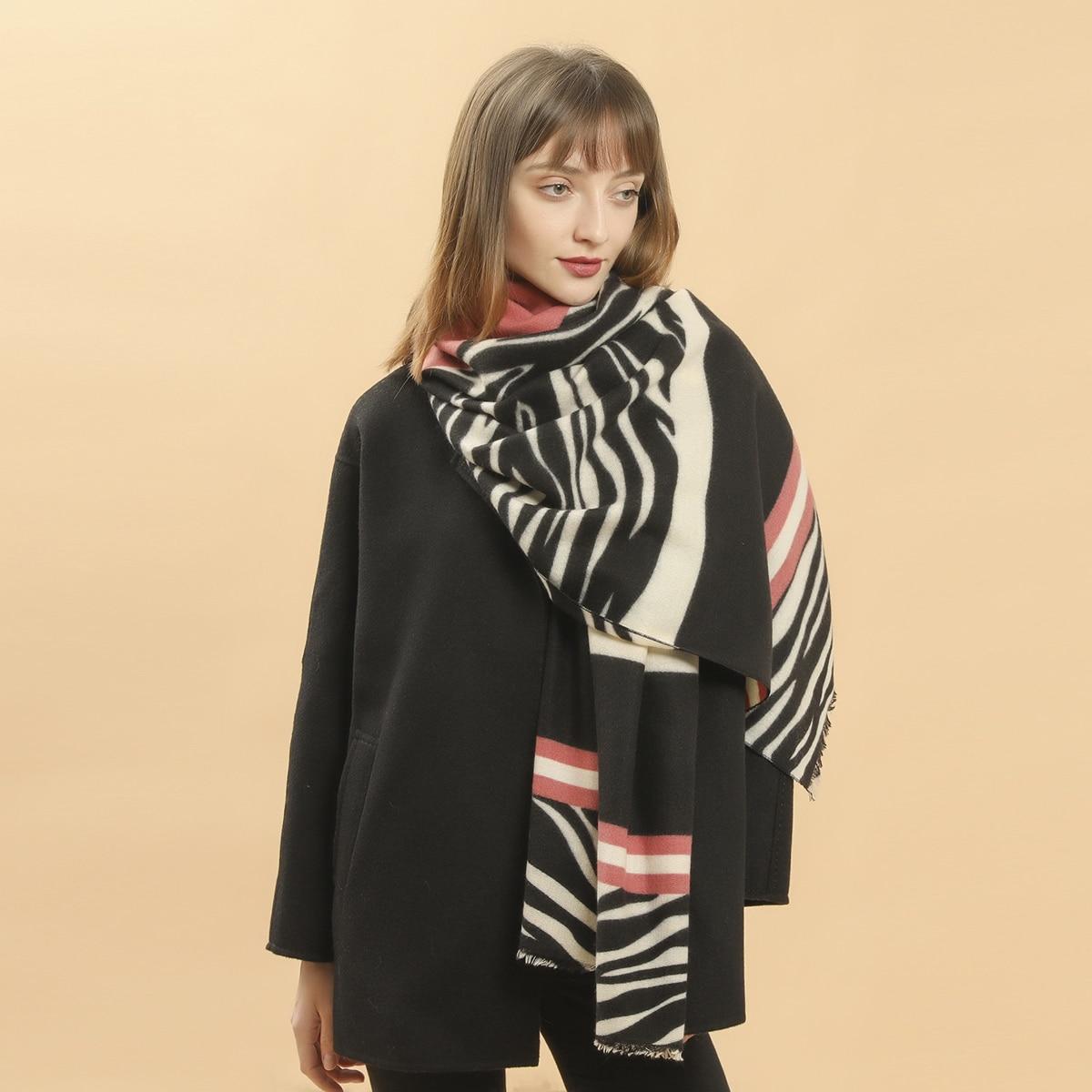 shein Zebra gestreepte patroon sjaal