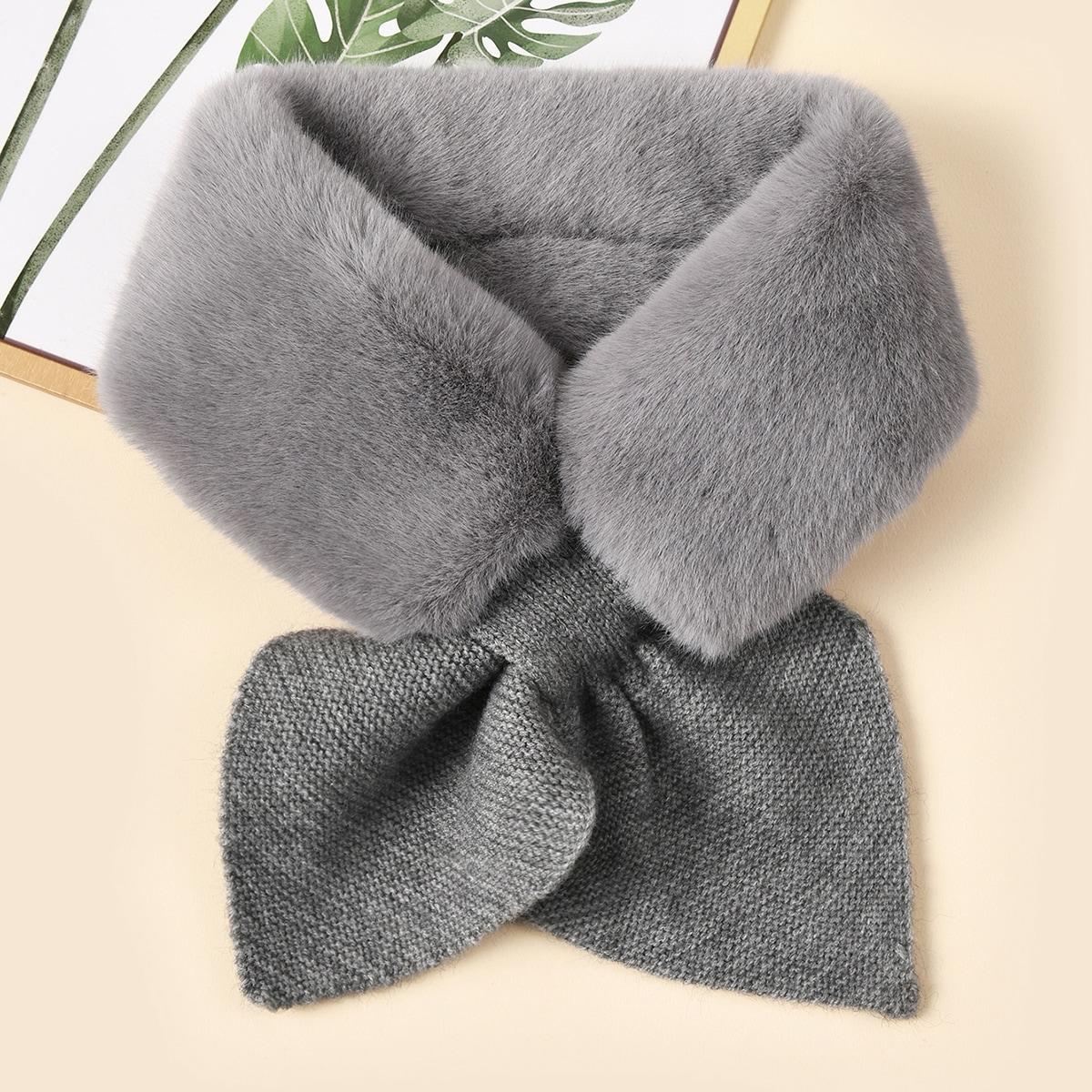 shein Korte sjaal van imitatiebont