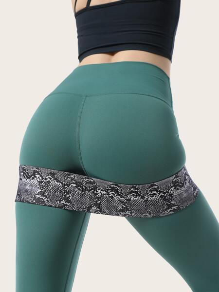 Snakeskin Print Buttocks Workout Resistance Band