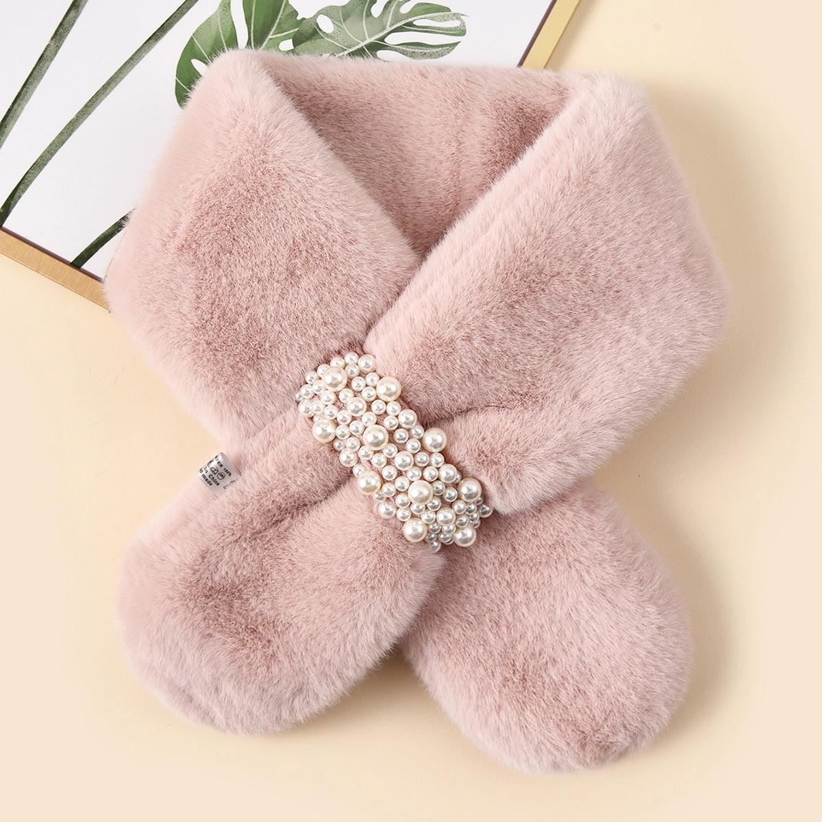 shein Faux Pearl Decor sjaal