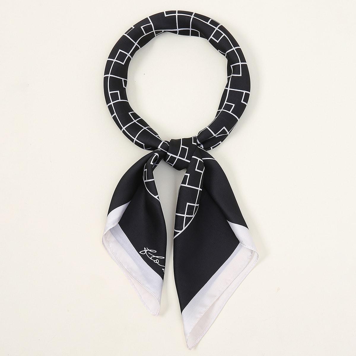 shein Bandana met geometrisch patroon