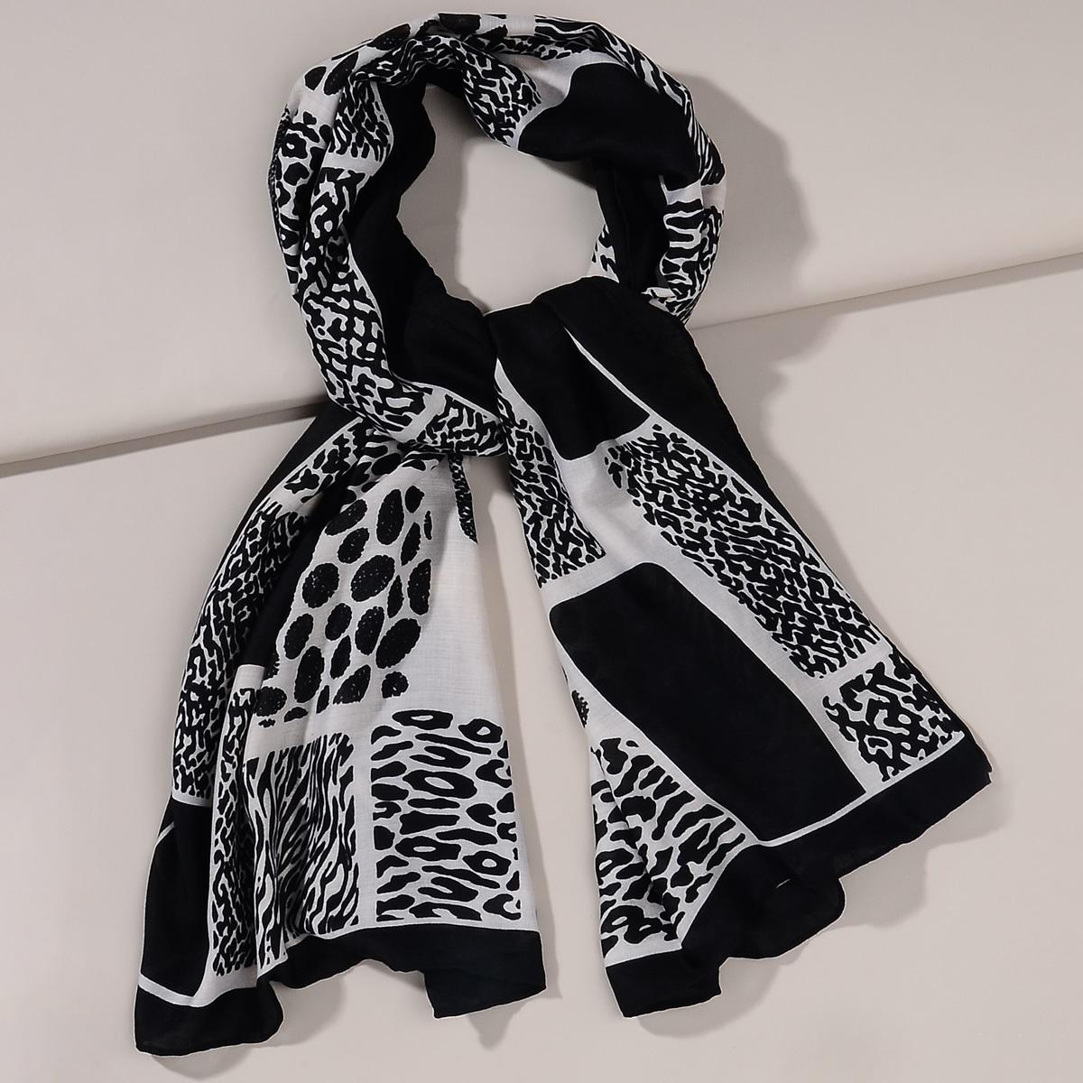 shein Tweekleurige sjaal met stippenprint