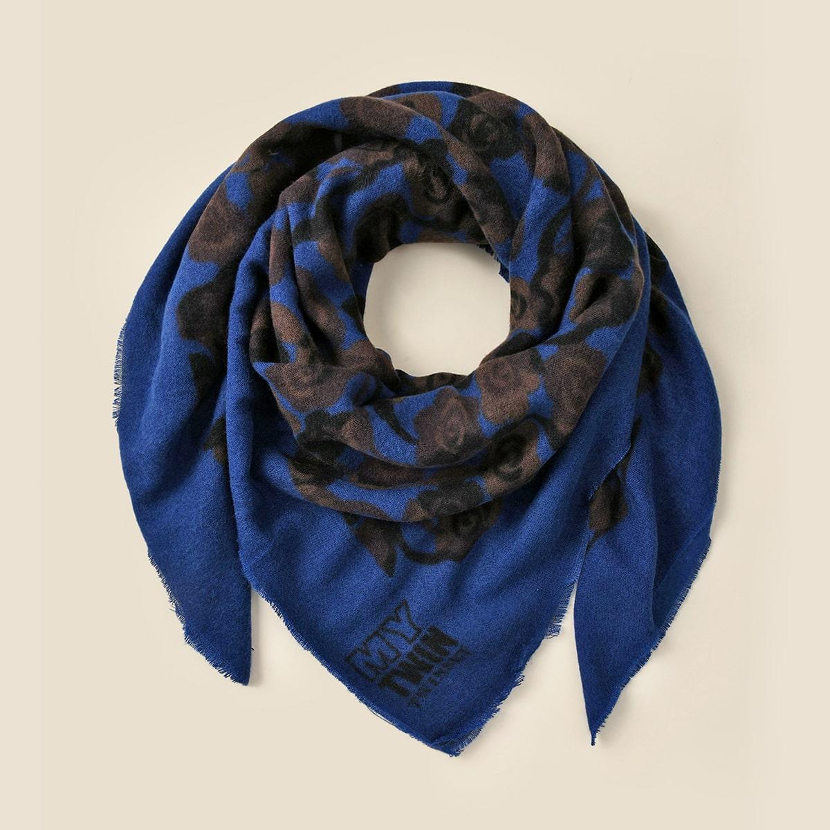 shein Originele sjaal met bloemenprint