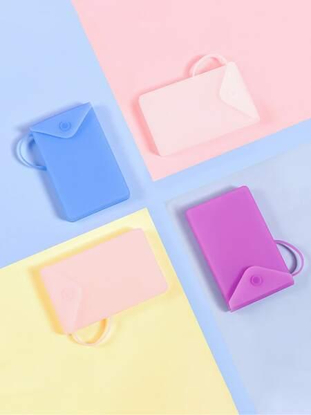1pc Random Color Silicone Face Cover Box