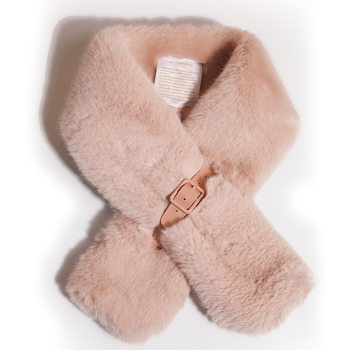 shein Pluizige sjaal met letterpatch