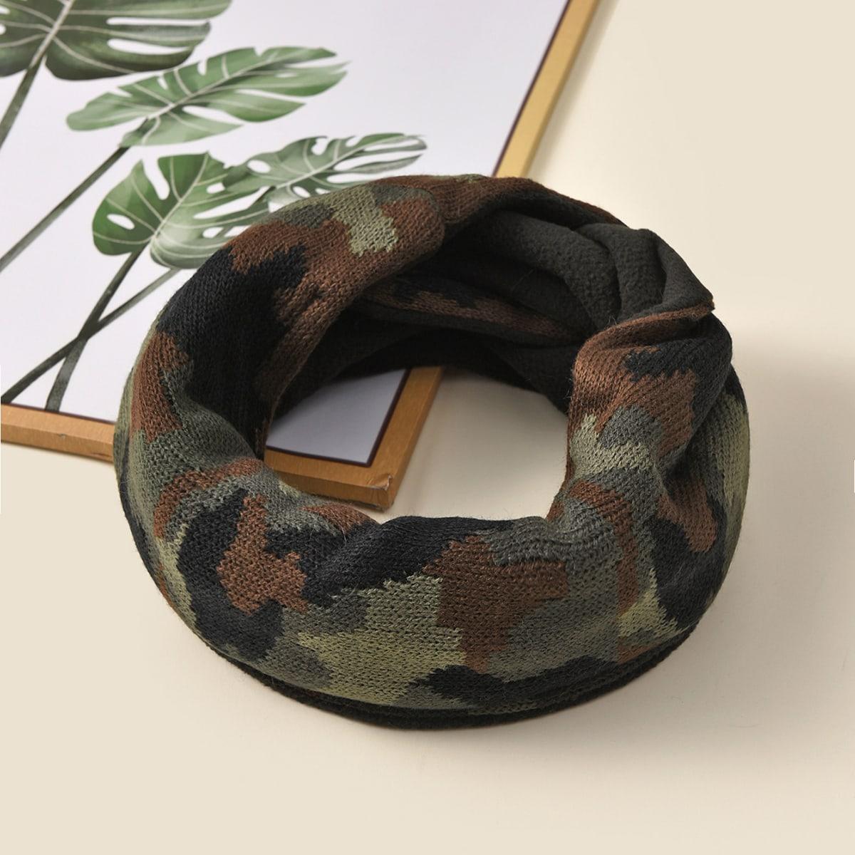 shein Infinity sjaal met camouflageprint