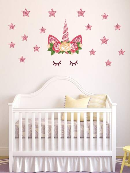 Kids Unicorn Print Wall Sticker