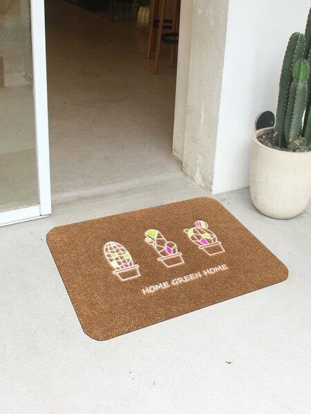 Cactus Print Floor Mat