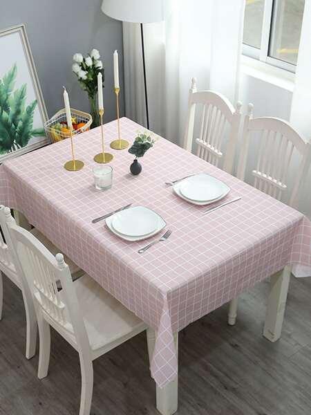 Plaid Pattern Waterproof Tablecloth