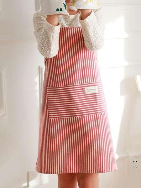 Striped Pattern Apron
