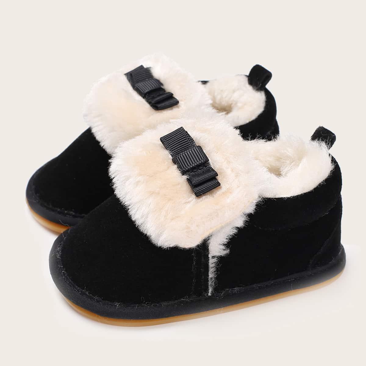 shein Baby Girl Bow Decor Snowboots