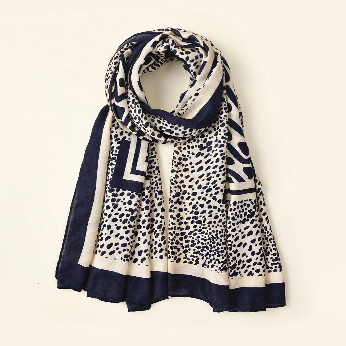 shein Sjaal met luipaardpatroon