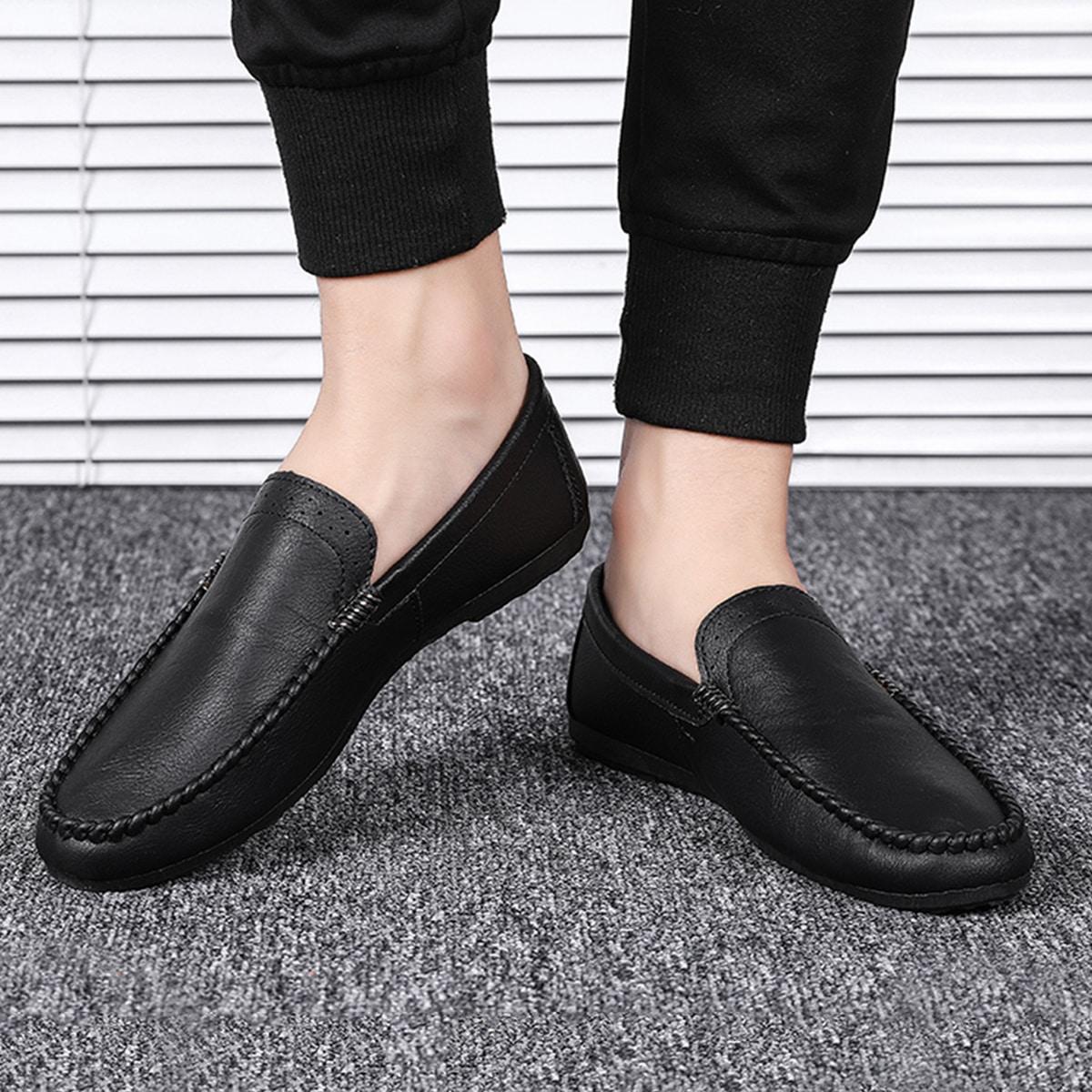 shein Loafers met brede pasvorm voor heren