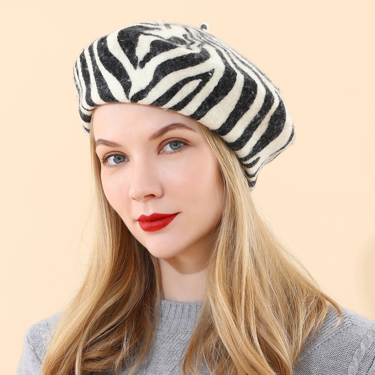 Zebra Striped Beret