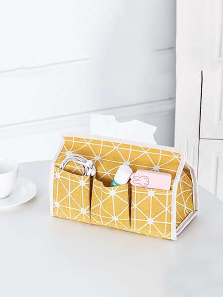 Geometric Pattern Facial Tissue Cover