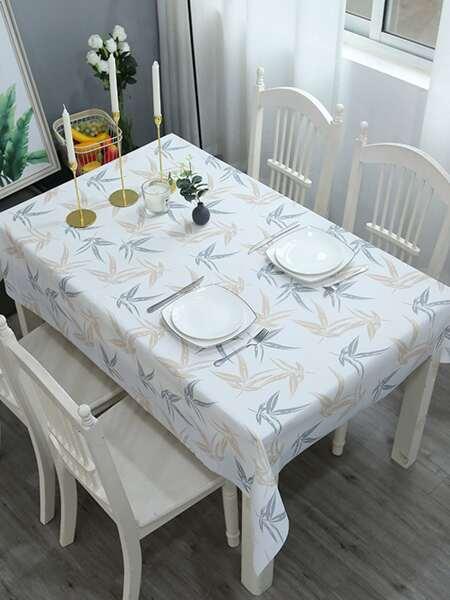 Leaf Print Tablecloth