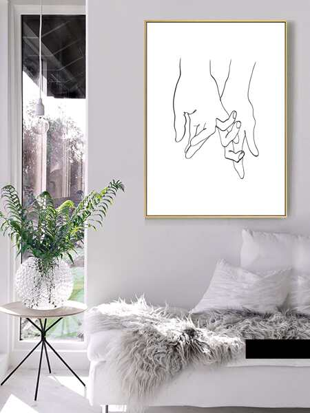 Hand Print Wall Painting Without Frame